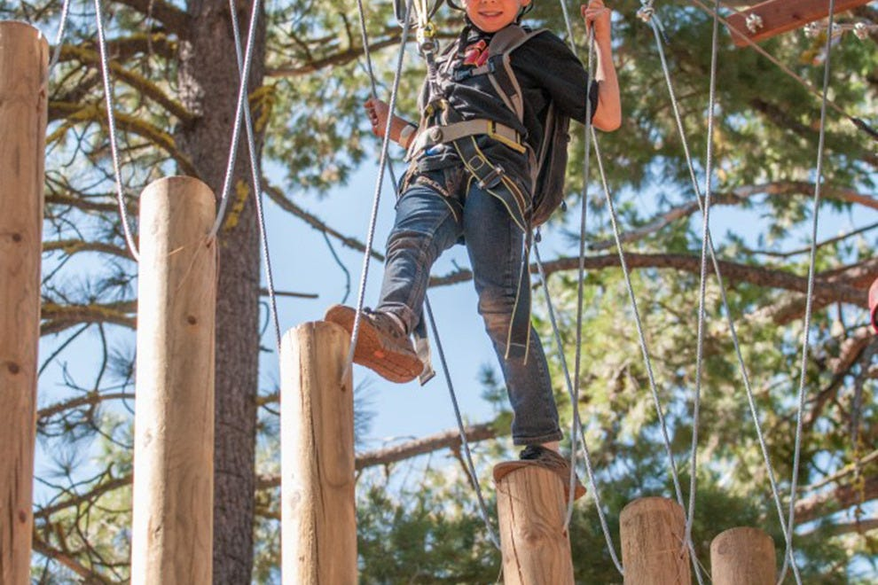 The Tahoe Treetop Adventure Park is fun and challenging for both children and adults