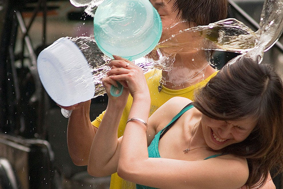 Pouring it on at Songkran