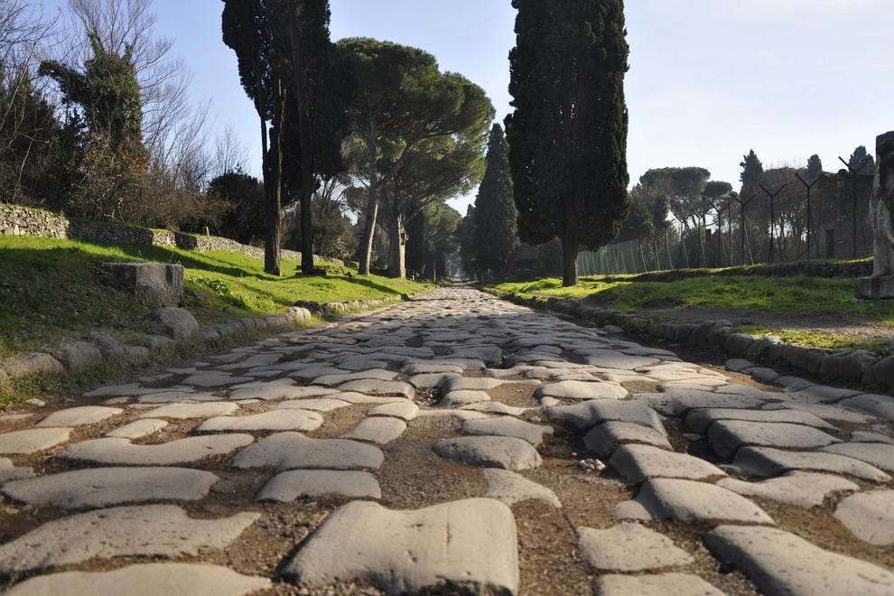 Via Appia and the Aurelian Wall