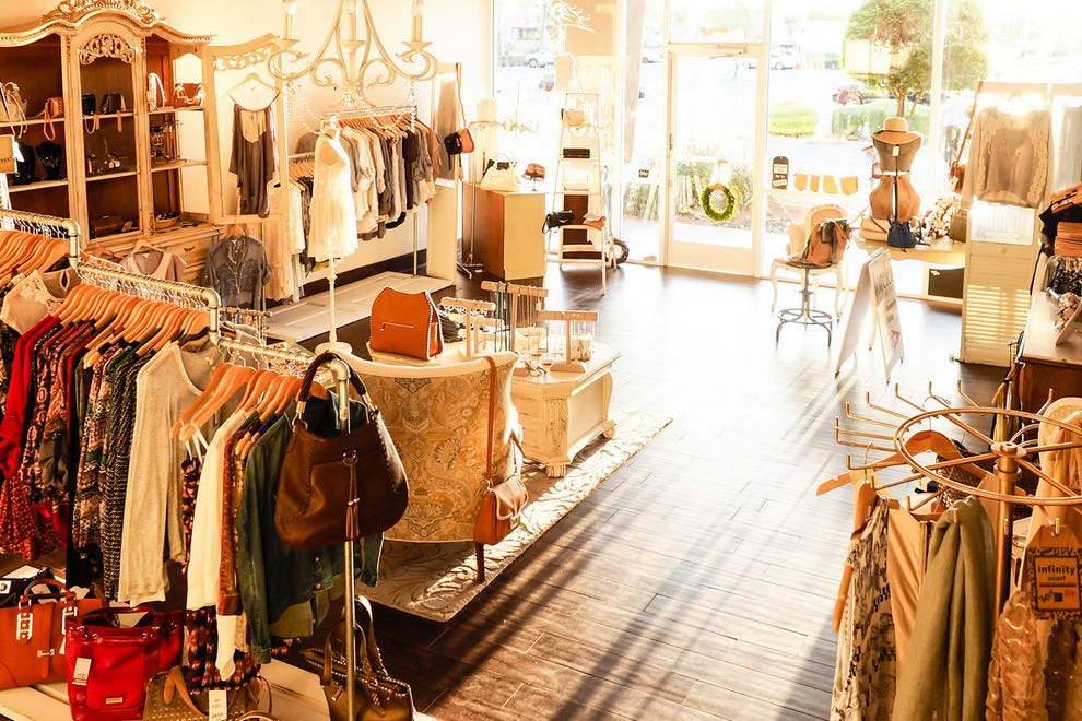 Beautiful clothing and accessories are a shopper's delight at Lorelei Boutique