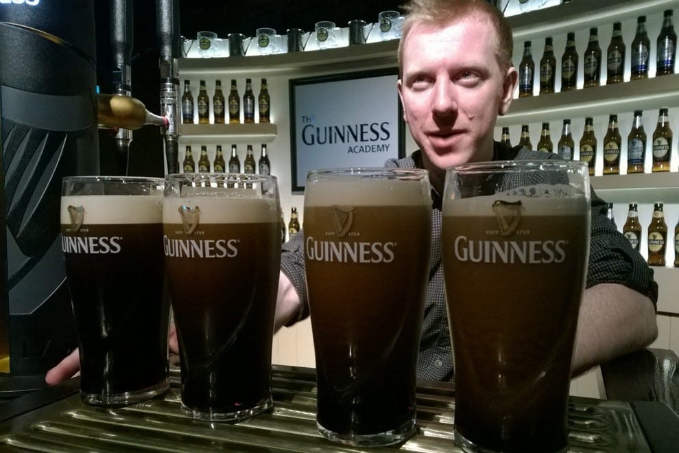 At Guinness, they'll teach you to pull the perfect pint