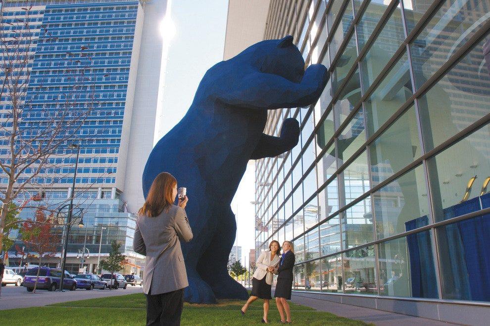 Big blue bear at colorado convention center denver for Craft show denver convention center