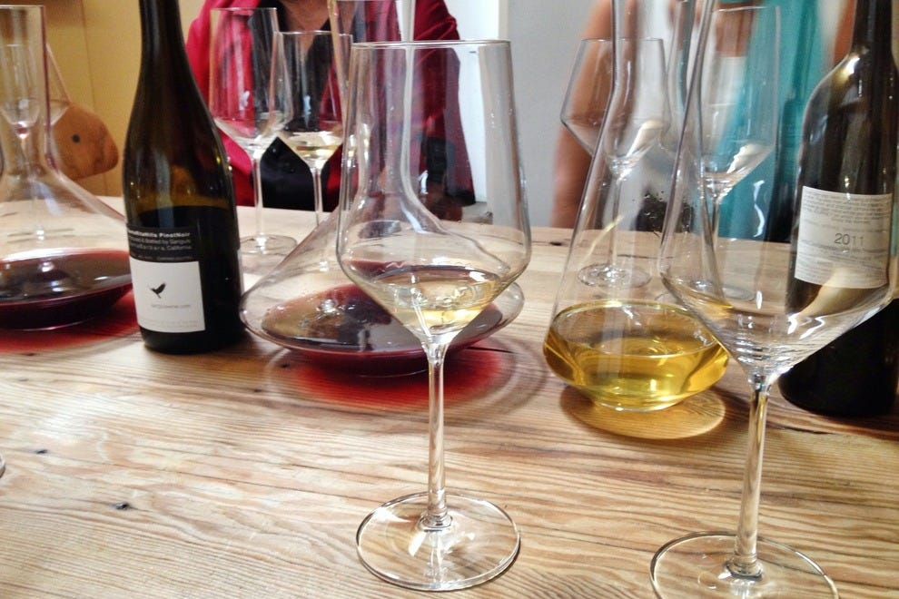 The wines at Sanguis are all decanted prior to your visit and served in glasses shaped to best suit each varietal