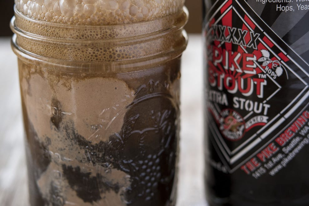 A beer float with Pike Stout gives plenty of reasons to cheers this baseball season