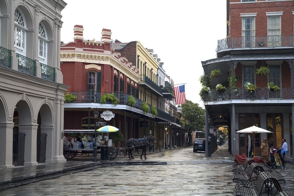 The romantic French Quarter