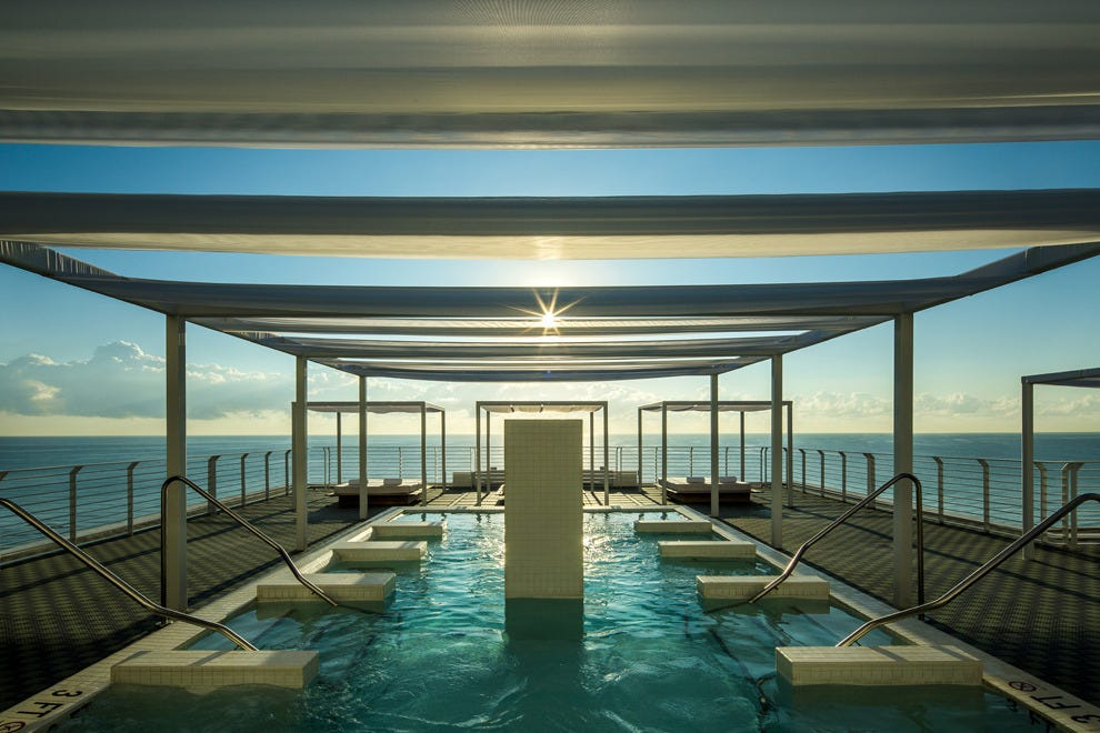 Staycation at a glamorous hotel or spa, such as the Metropolitan by COMO in Miami Beach