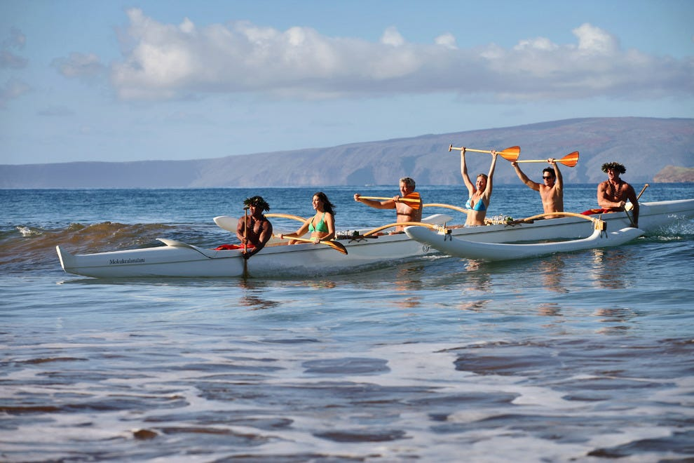 Paddle an outrigger canoe at the Fairmont to experience sailing as the ancient Polynesians did.