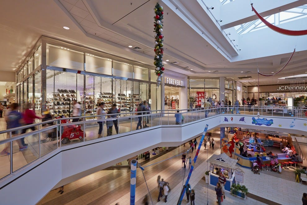 Spanning two stories, Westfield Countryside features more than 150 shops