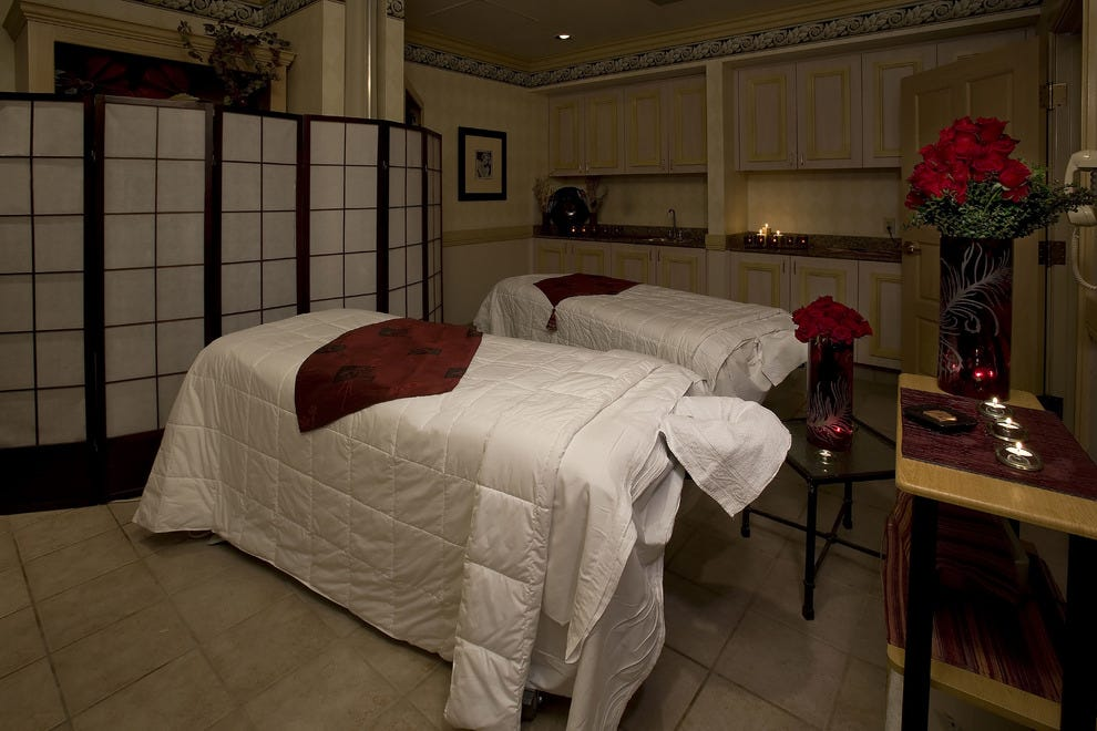 One of two couple's suites at Rio Spa & Salon