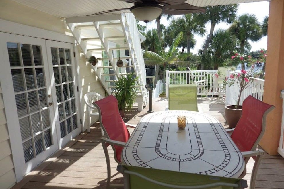 Outside at this Space Coast bed and breakfast