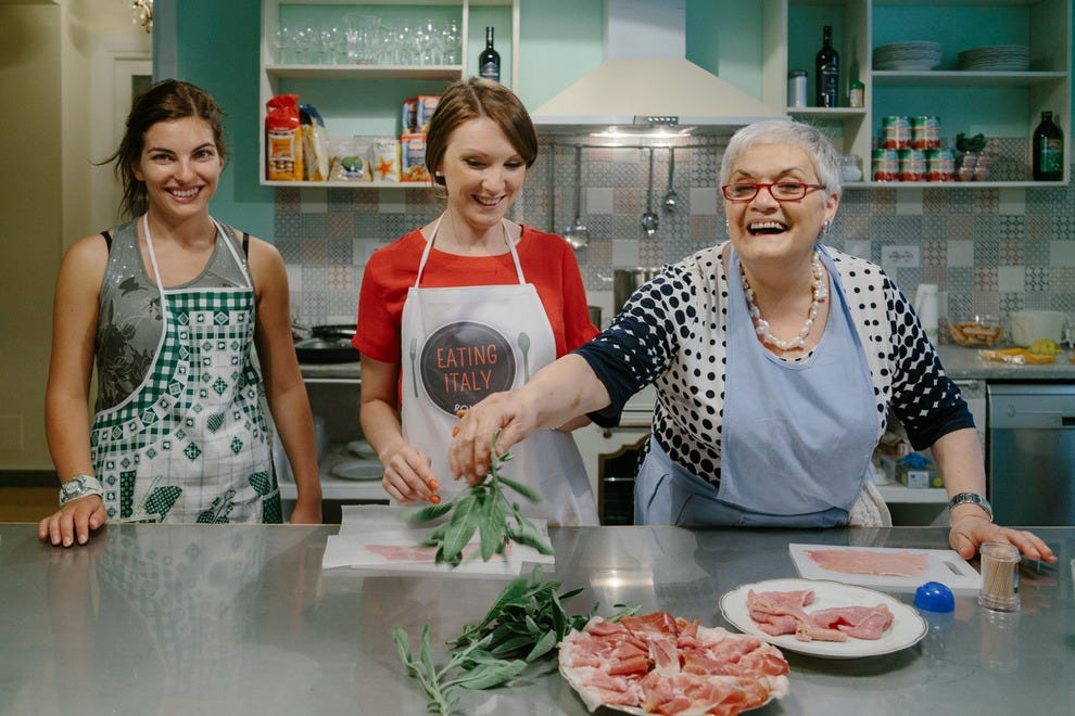 Nonna Bruna puts guests to work in the kitchen