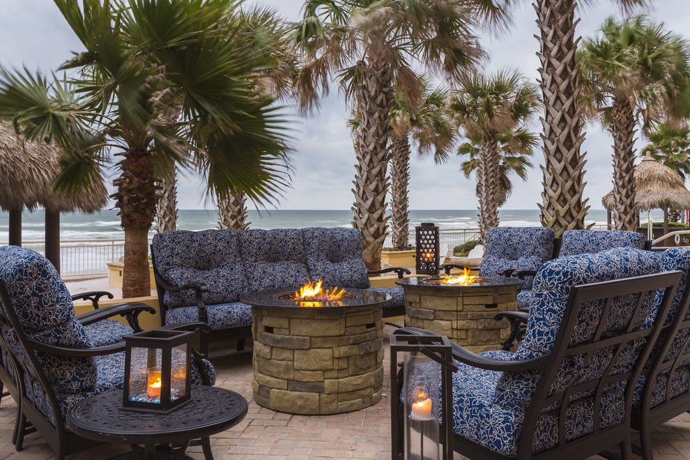Enjoy their signature fireside s'mores at Shores Resort