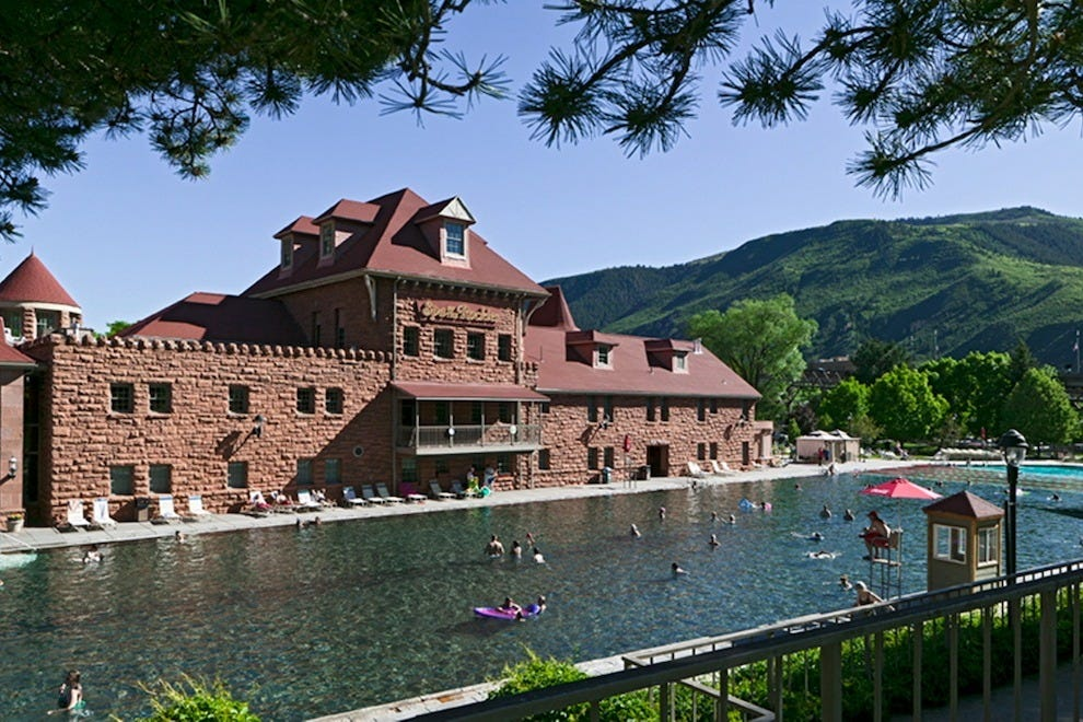 Glenwood Springs boasts the world's largest hot springs pool