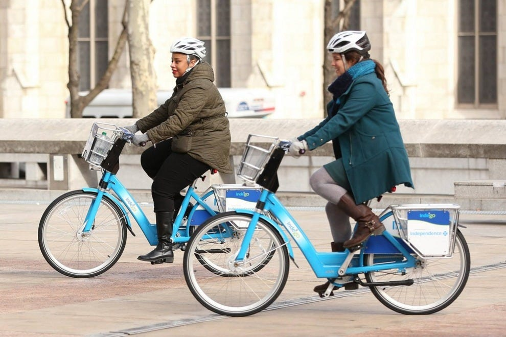 Hop on and hit the streets with Philadelphia's bike sharing program Indego