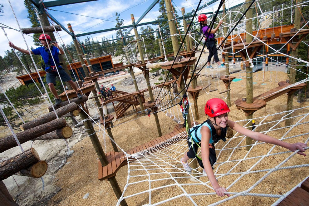 The Heavenly ropes courses are great for all ages