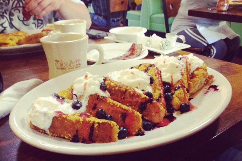 The French toast at The Oink Cafe in Tucson