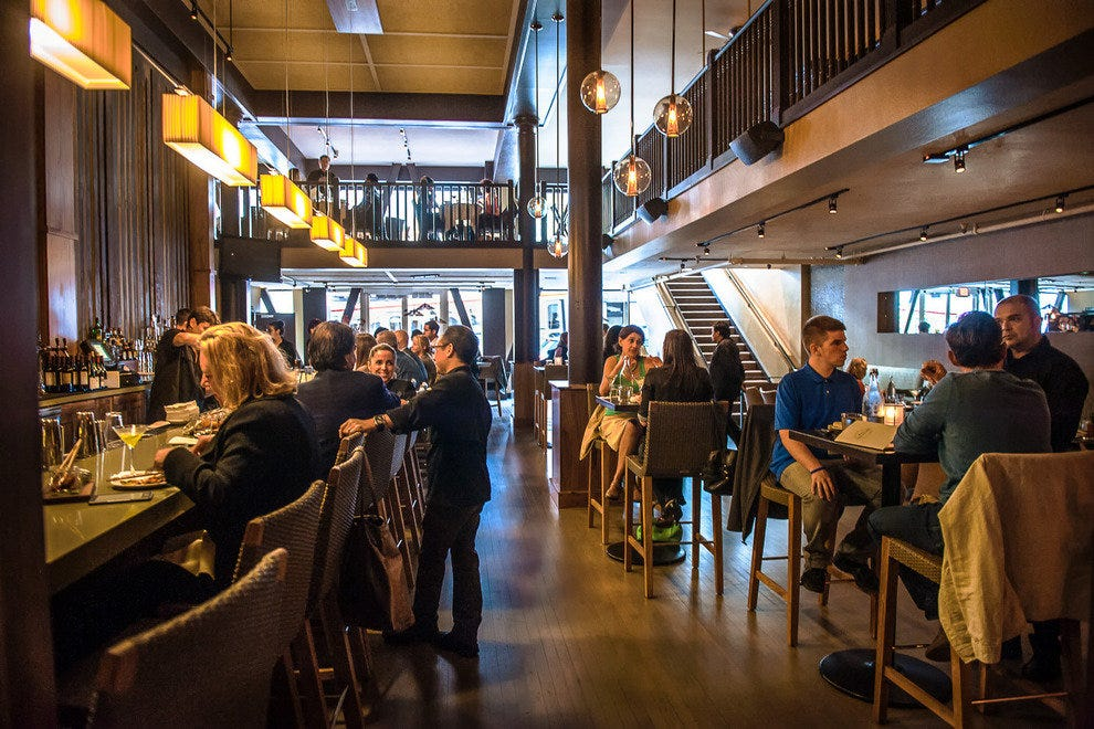 E o restaurant and bar san francisco restaurants review for Bar food union square san francisco