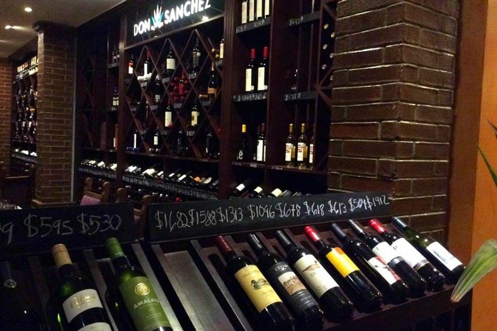 Don Sanchez's indoor wine cellar and carry-out shop stocks over 300 labels from around the world