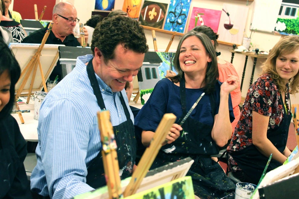 Painting with a Twist classes offer a fun way for friends to spend a night out on the town