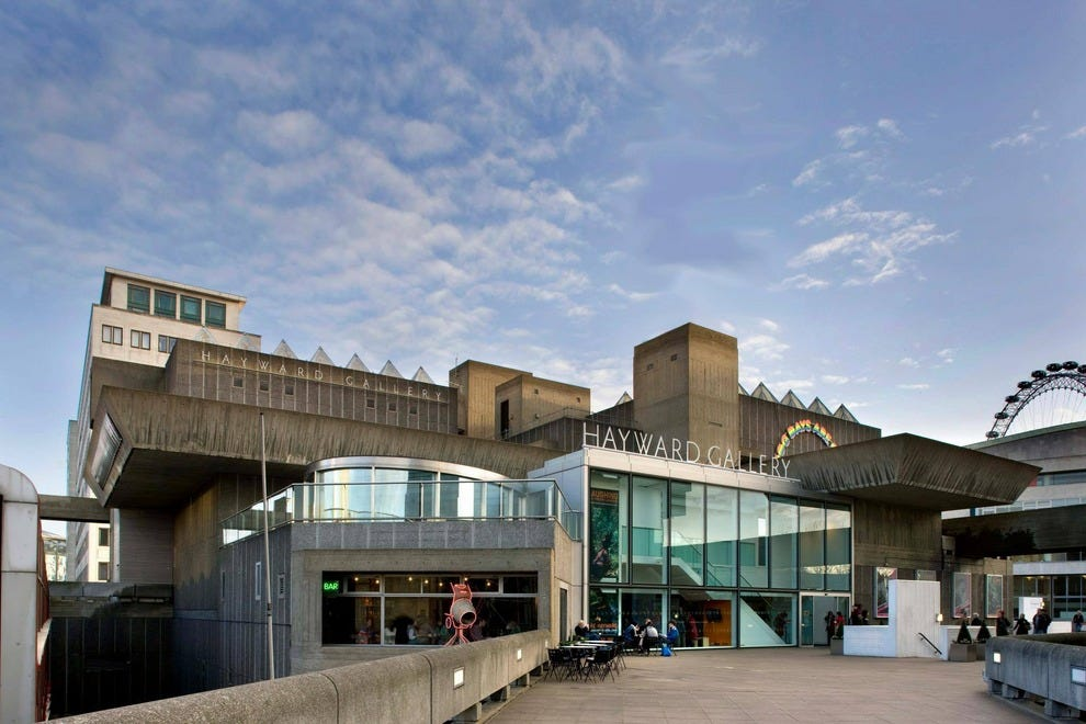Hayward Gallery sits behind the Royal Festival Hall and the British Film Institute