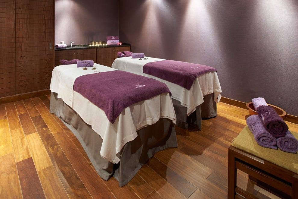 The hotel's spa facility includes massage rooms for couples, offering a bespoke wellness package for him and her