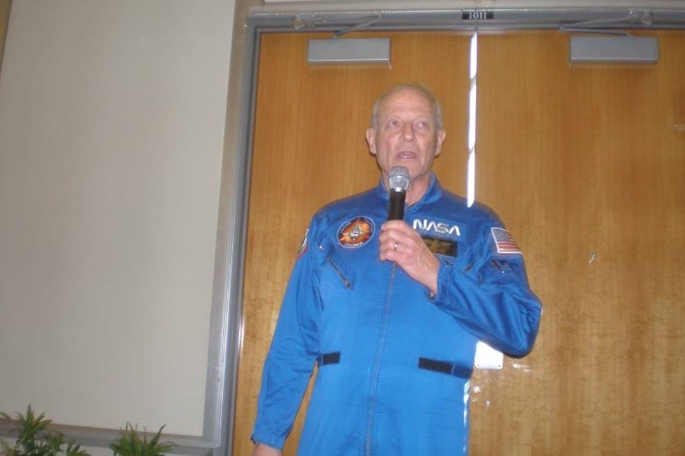 Lunch with astronaut Jack Lousma