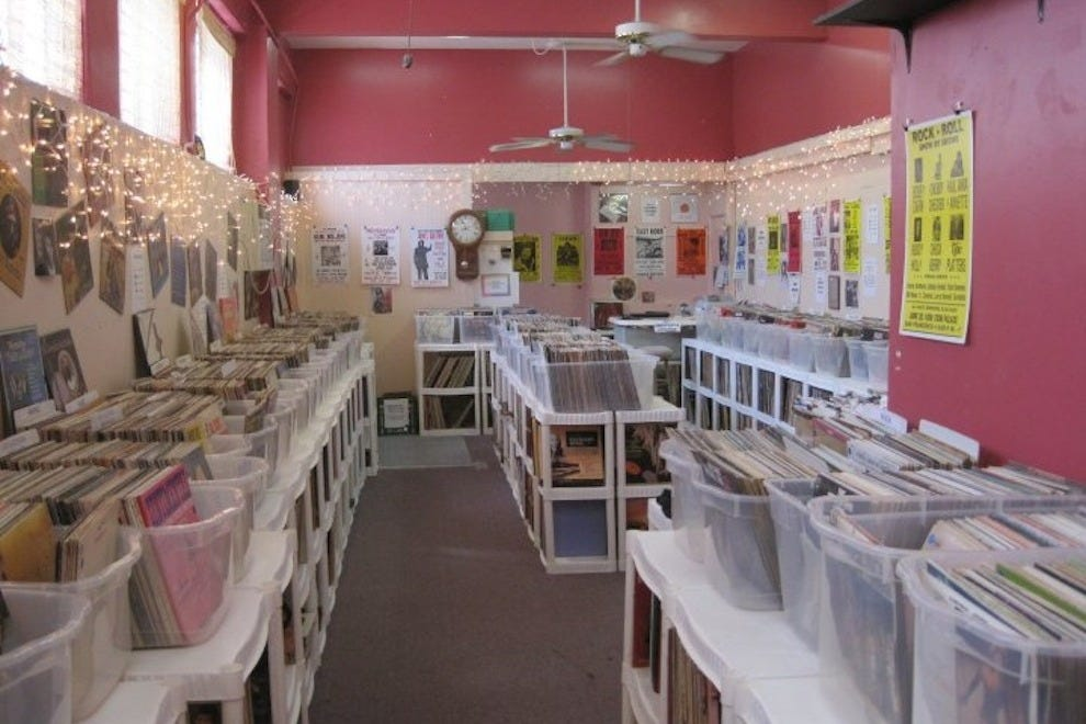 Caroline's has more than 40,000 LPs and 45s