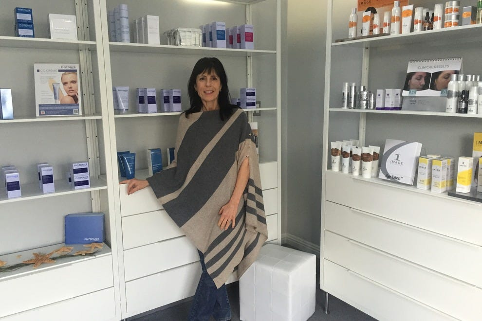 Owner and esthetician Lisa Wilson, inside her 7e Fit Spa