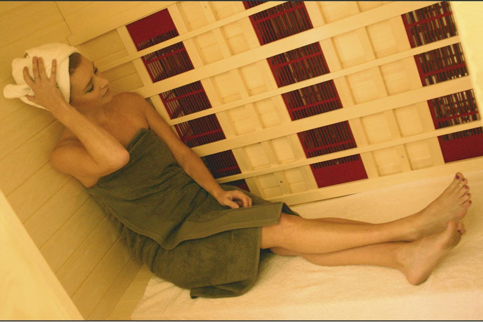 Relax in the infrared sauna at 7e Fit Spa