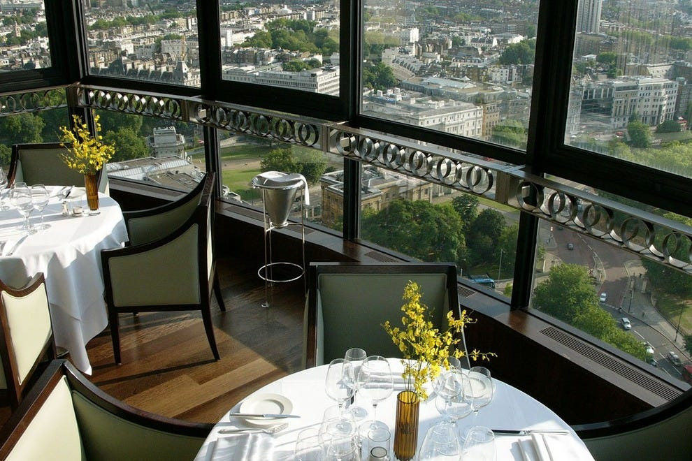 Galvin at Windows offers some of the most stunning views in the city of London