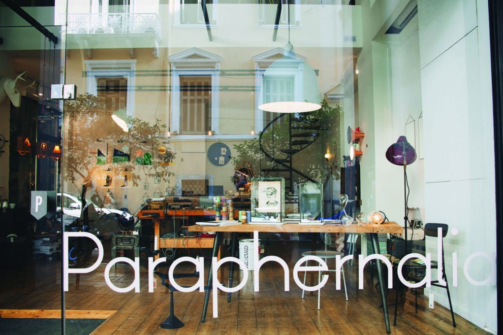 Paraphernalia Concept Store In Athens Features A Variety Of Items Shopping Article By