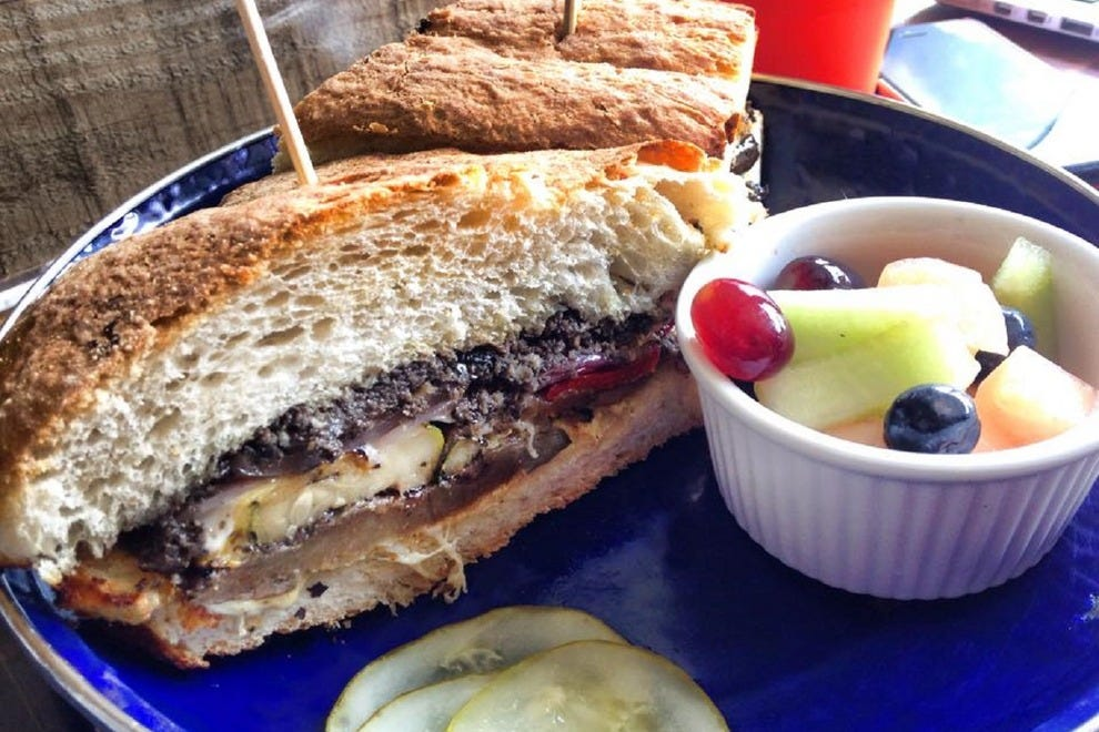 Take a bite out of this sandwich, The Little Richard, while you listen to tunes at Songbyrd Record Cafe