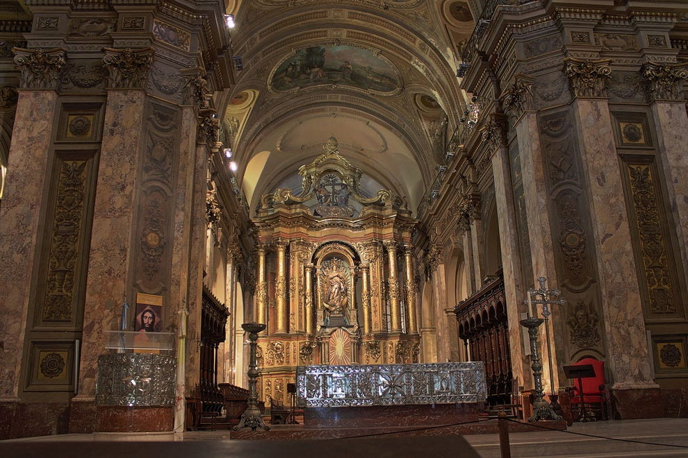 The main chapel at Buenos Aires Metropolitan Cathedral