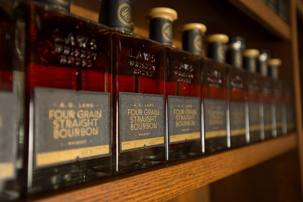 Laws Whiskey House concentrates on one premium product: four-grain bourbon