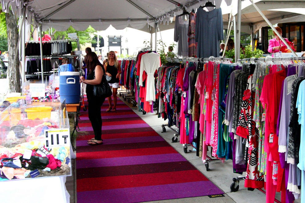 Strolling through the Cherry Creek North Sidewalk Sale's tents and checking out the clothes, shoes, jewelry, books and fun items for the house is an annual must-do