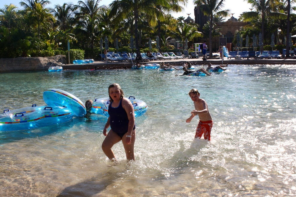 Children enjoy the Lazy River