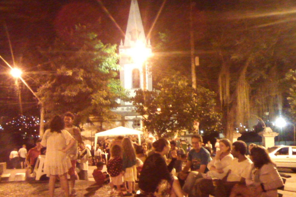 Largo das Neves attracts a mixed-age crowd of locals in Rio