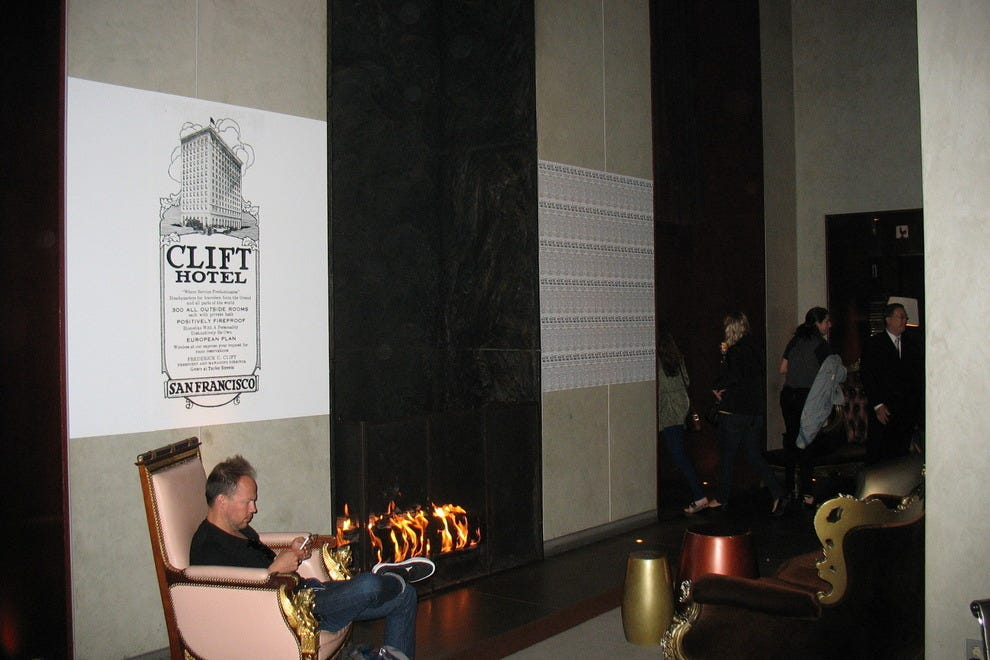 Lobby of Clift Hotel