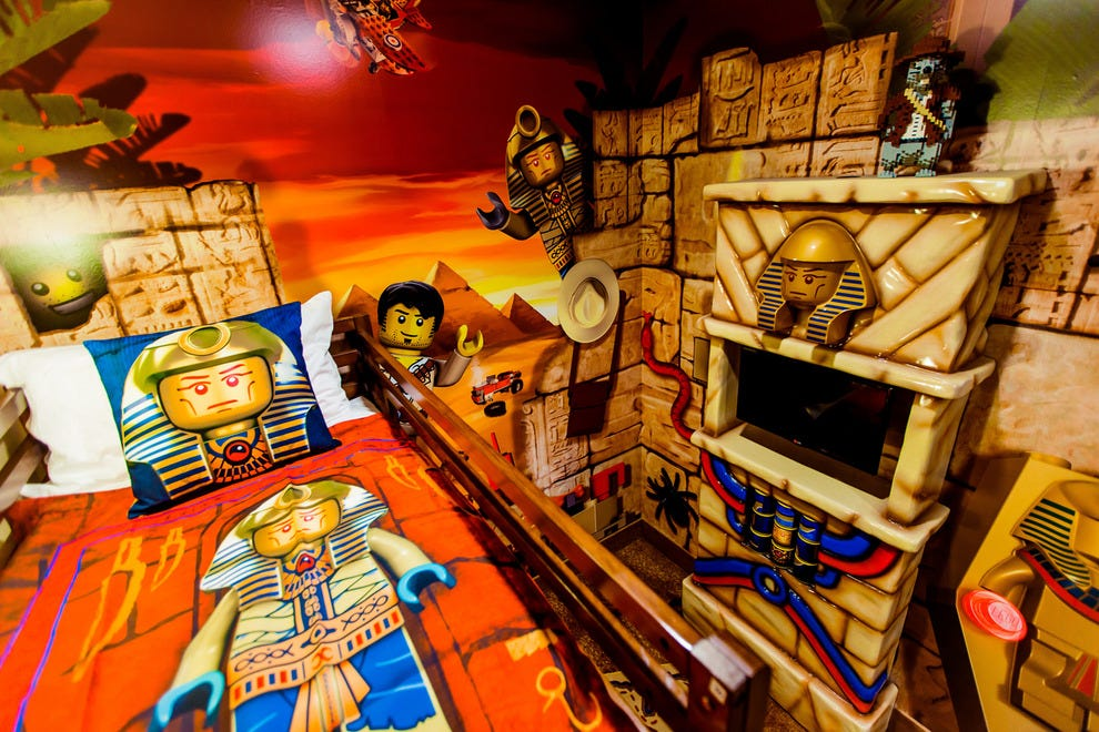 Theming is exceptional; in Adventure Rooms, kids follow in the footsteps of mini LEGO hero Johnny Thunder
