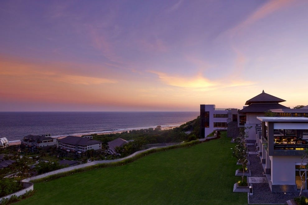 Sunset view of the The Ritz-Carlton, Bali