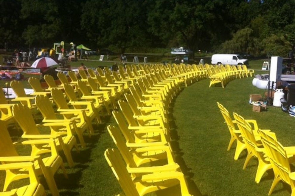 Ramp up date night and reserve one of these chairs on the lawn