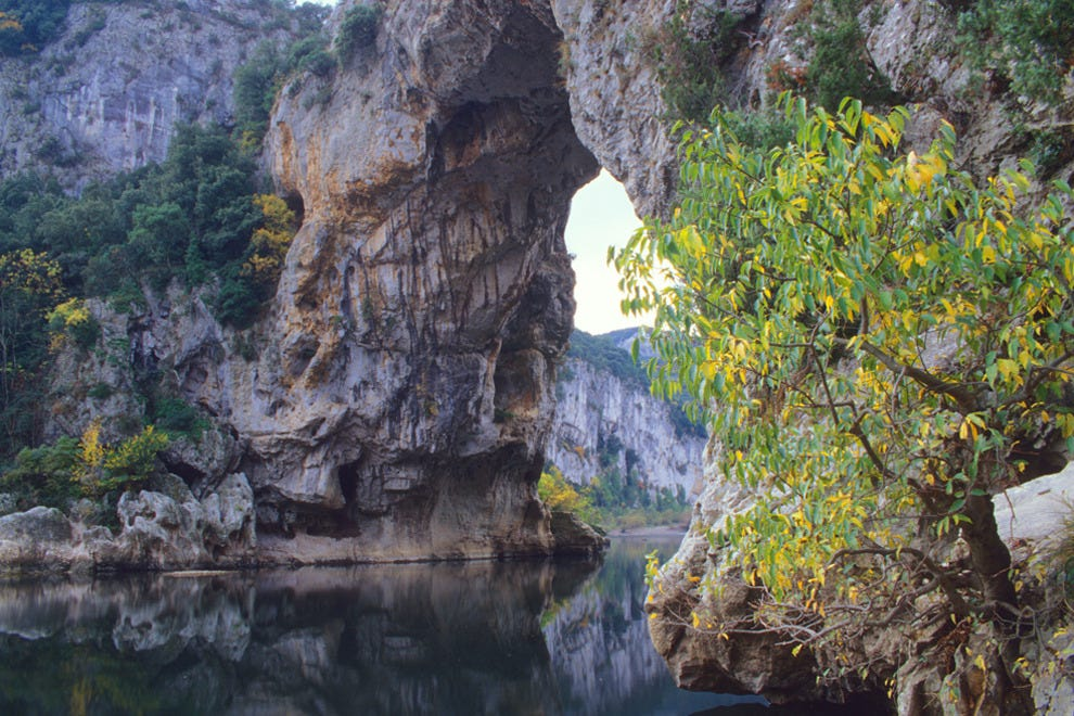 Head into the Ardèche gorges at Vallon Pont d'Arc