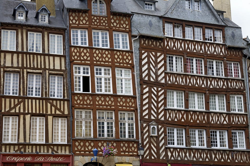 Traditional Breton homes in Rennes