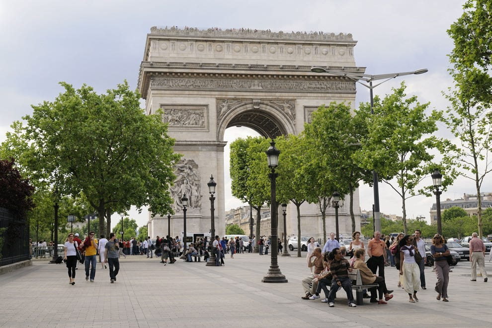 The Champs-Élysées is where the race finishes in Paris