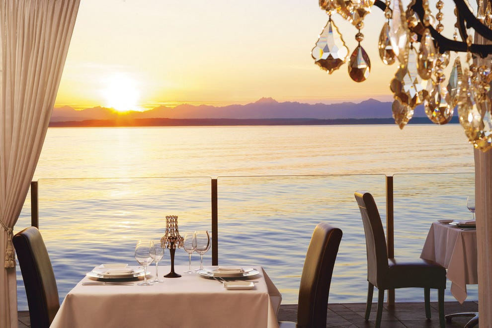 Dining with a view at Six Seven restaurant