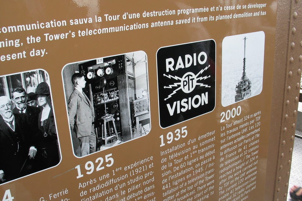 Radio saved the tower? The Eiffel Tower was set to be demolished until it was discovered to be a highly strategic radio transmission tower during the wars