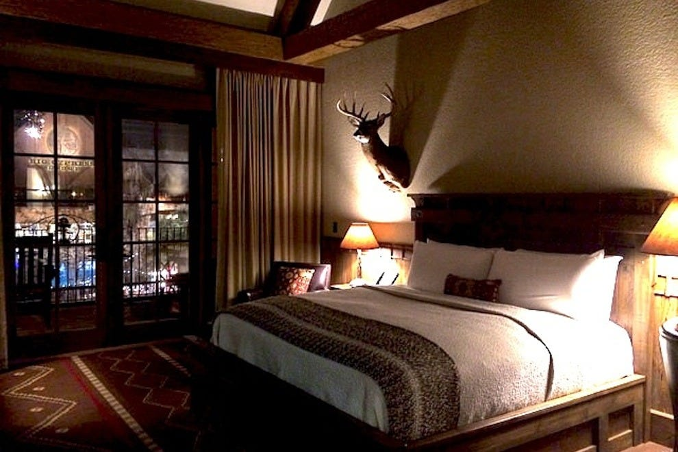 The Big Cypress Lodge inside the Bass Pro Shops features 105 rustic-chic rooms
