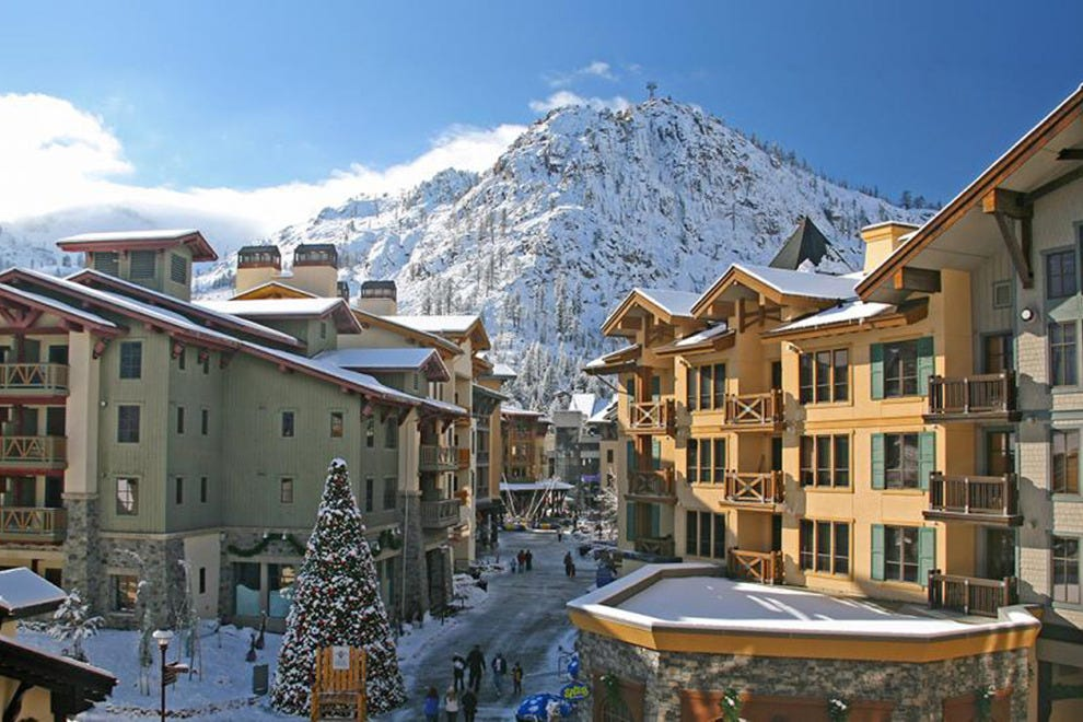The Village at Squaw Valley in the winter