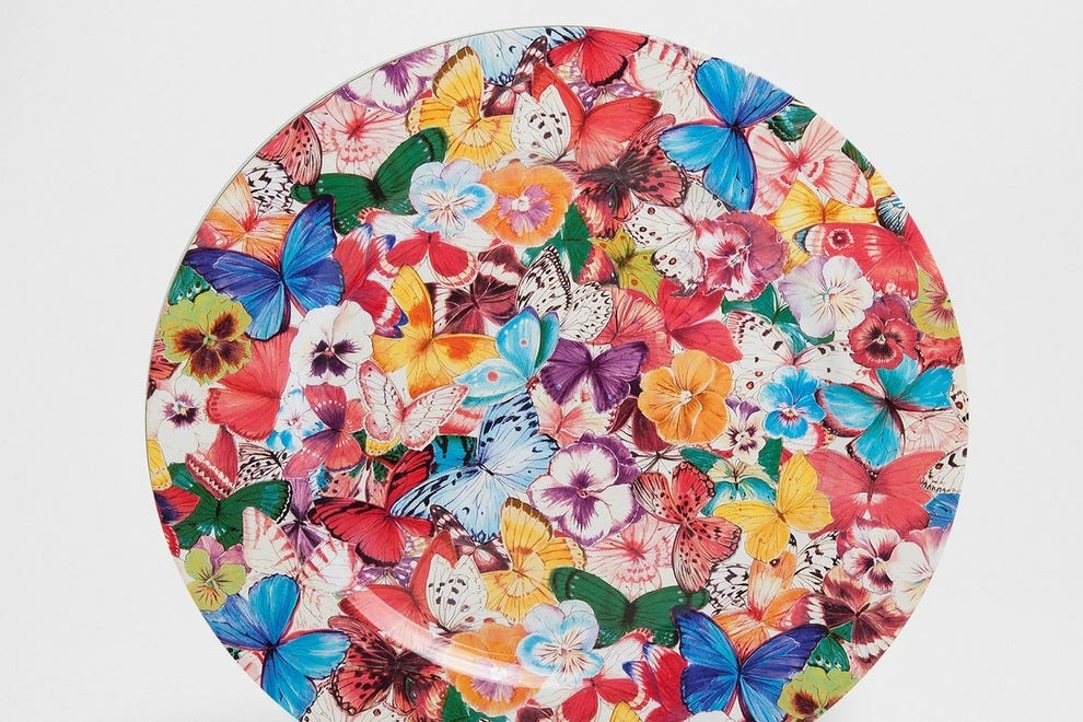 Colorful, butterfly-themed tableware by Zara Home