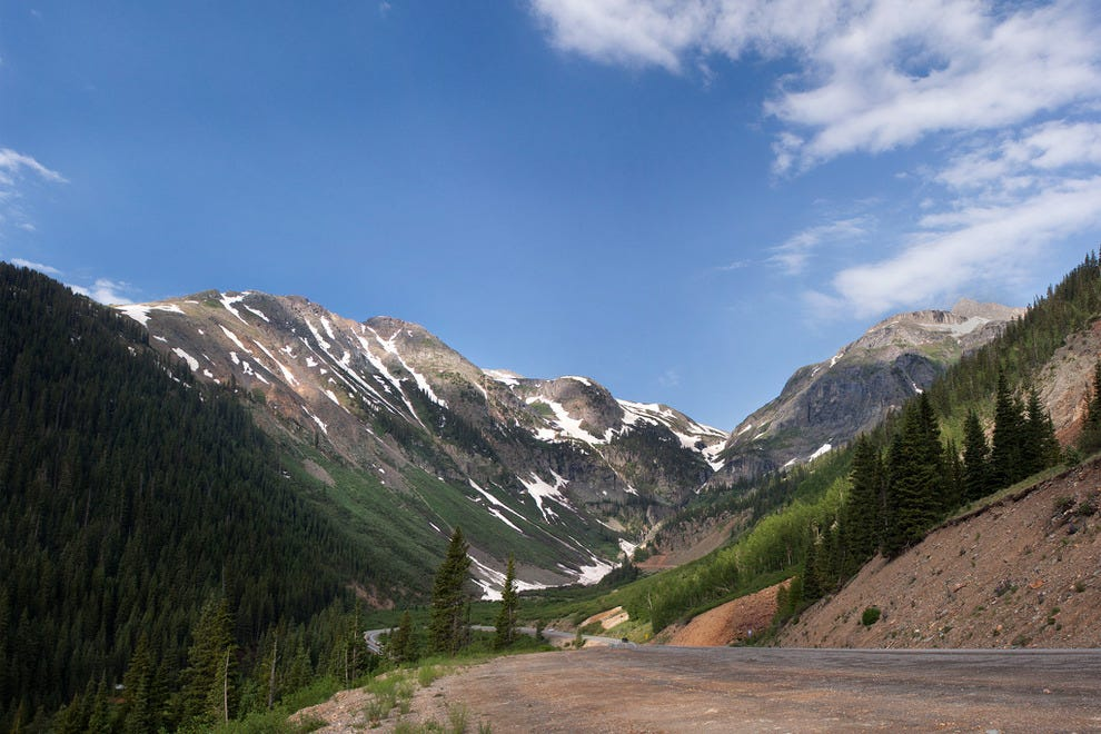 A view of the Million Dollar Highway